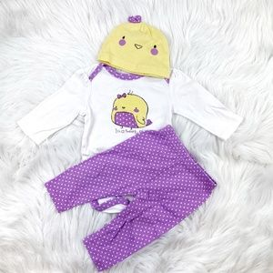 Place Baby Girl Matching Set Size 3-6m